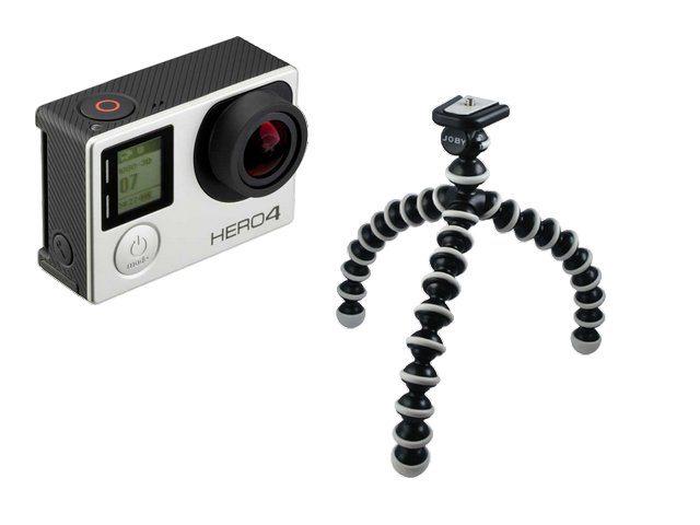 Gorillapod mit Actioncam