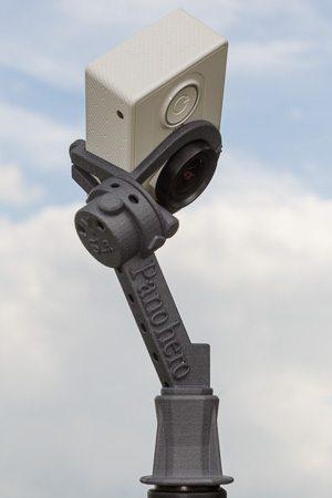 Nodalpunktadapter Panohero-Std-Y mit Kamera Xiaomi Yi